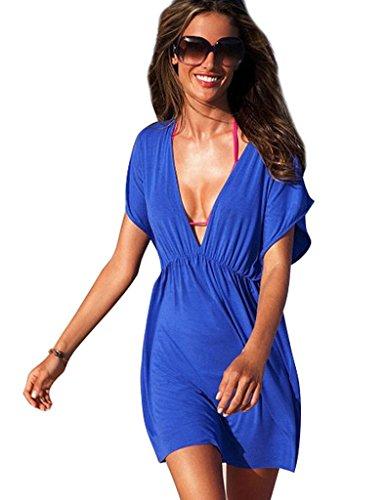 Bestgift – Saída de praia feminina sexy de verão, Royal Blue, tamanho �nico