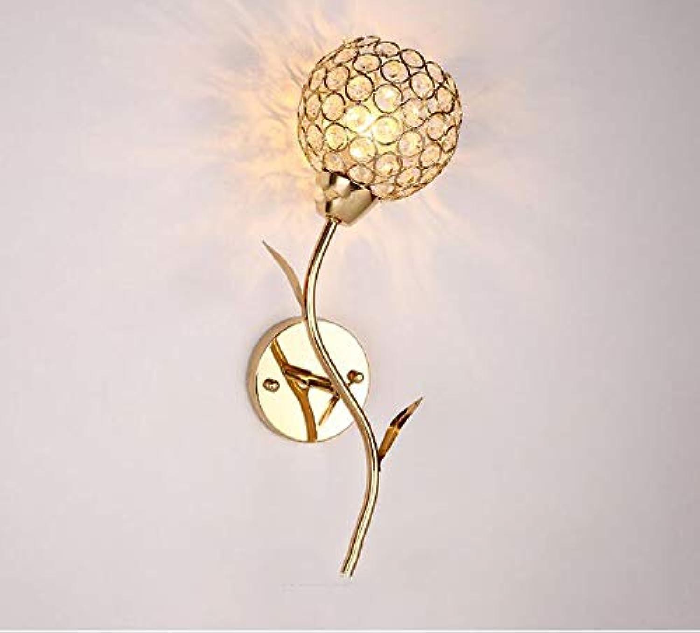 SMQ Treppenhausgang-Korridor-Kristallbalkonlampe der Wandlampe der modernen unbedeutenden Wohnzimmerschlafzimmernachttischlampe kreative Kreative Wandleuchte (Farbe   Single Head)
