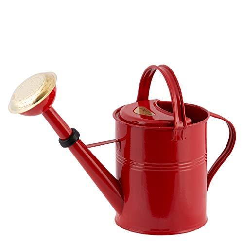 Plint Gieter Waterkan Watering Can metaal zink 5 liter retrokan kan rood met gietkop