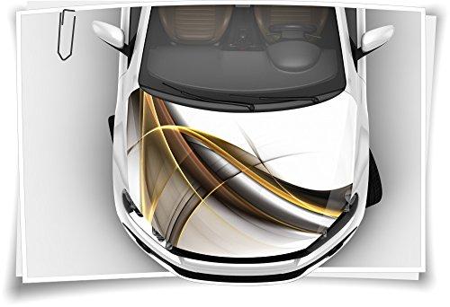 Gold Modern Linien Abstrakt Motorhaube Auto-Aufkleber Steinschlag-Schutz-Folie Airbrush Tuning Car-Wrapping Luftkanalfolie Digitaldruck Folierung