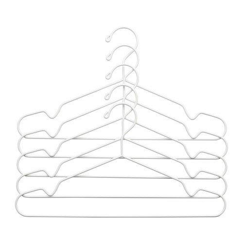 Ikea STAJLIG Kleiderbügel in weiß; für innen und außen; 5 Stück
