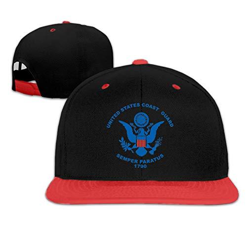 Coast Guard Flags Children's Baseball Cap Running Adjustable Character Youth Baseball Hat Red