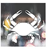 Custom Decal Car for Blue Crab, Fishing, Crabbing, Boat for Car, Truck, Jeep, Funny, Tumbler, Window, Motorcycle, Helmet, Bumper, Decal for Laptop, Phone, Home Decoration / 2.8 in x 4 in / White
