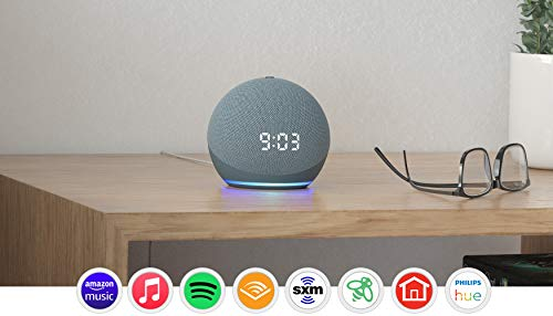 All-new Echo Dot (4th Gen) | Smart speaker with clock and Alexa | Twilight Blue