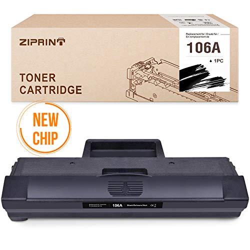 ZIPRINT (Con chip)Compatible con HP 106A W1106A Toner per HP laser MFP 135a MFP 135r MFP 135w MFP 137fnw HP laser MFP 107a 107w 107r (1 nero)