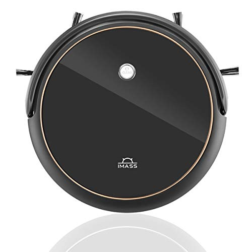 IMASS Robot Vacuum, Model A3 with Smart Path Planning, Max 1400pa High Suction Vacuum, Ultra-Thin Body, Super Silent, Built-in Blade Cleaning Brush Pet Hair Care for Hard Floors and Low Pile Carpet