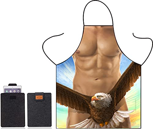 Cute Funny Men Women Kitchen Cooking Adult Chef BBQ Apron - Party Pretend Costume (Bald Eagle)