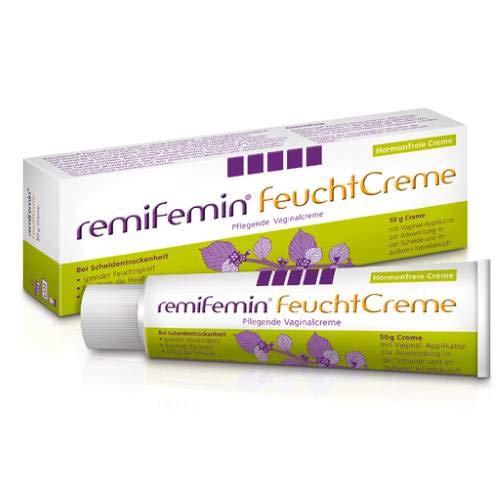 Remifemin Feucht Creme Spar Set: 2 x 50 g Pflegende Vaginalcreme, Spendet Feuchtigkeit, beruhigt die Haut, hormonrei, Konsequent ohne Duft- und Farbstoffe, Ohne Silikone oder Parabene