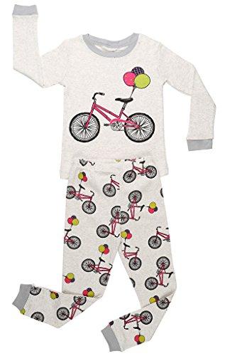 elowel Girls Bike 2 Piece Pyjama Set 100% Cotton 3 Toddler