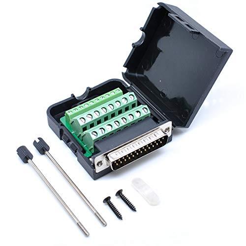 Willwin DB25 - Adaptador de conector macho de 25 pines con placa de separación de terminal de tuerca