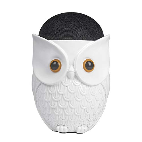 Maxten Owl Holder Stand,Statue Smart Speaker Holder Stand for Echo Dot 4th Gen / 3rd Generation /2nd Generation,Shelf, Bookself TV Stand Decor,Living Room Decorations