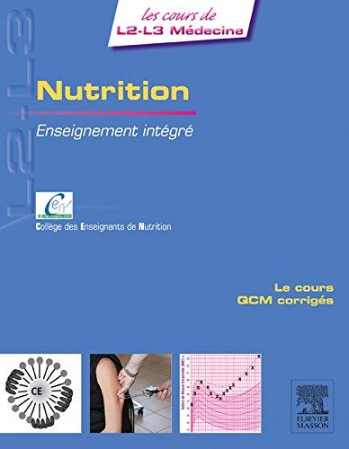Nutrition: Enseignement intégré - UE Nutrition (les cours...