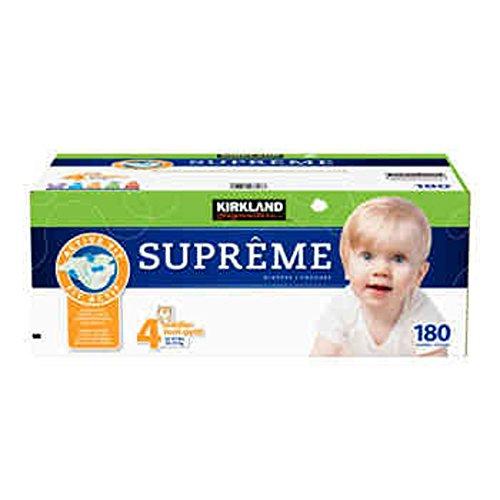 Kirkland Signature Supreme Diapers Size 4; Quantity: 180 - COS