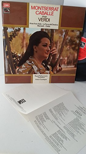 MONTSERRAT CABALLE, ROYAL PHILHARMONIC ORCHESTRA, ANTON GUADAGNO sings verdi, ASD 2787, small lyric insert