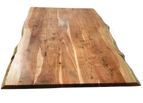 Tischplatte 160x85 cm, Akazie natur, Baumkante wie gewachsen