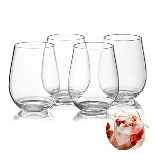 Xin Yan qun-qun 4pc/set irrompible PCTG vino tinto tazas transparente jugo de fruta cerveza taza inastillable vasos de plástico Bar gereedschap