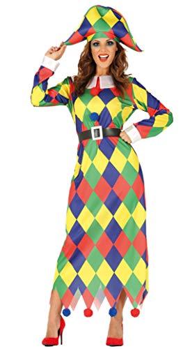Fiestas Guirca Costume Donna arlecchino arlecchina Taglia m
