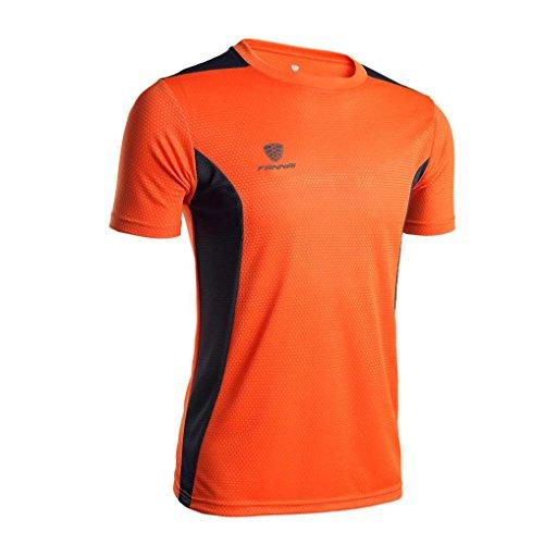 OSYARD Mann Trainings Kurzarm Bluse, Herren T-Shirt mit Rundhals Mann Gamaschen Eignungs Sport Gymnastik Laufende Yoga Athletische Hemd Spitzen Bluse