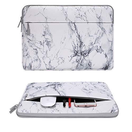 MOSISOラップトップスリーブケース衝撃吸収キャンバス撥水保護バッグマーブル柄インナーケース13-13.3インチMacBookAir132010-2017/MacBookPro132008-2015/13.5SurfaceBook/13.5SurfaceLaptop対応(ホワイトマーブル)