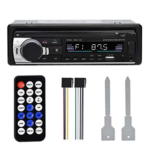 Haowecib Reproductor de MP3 para automóvil, fácil operación, Reproductor de MP3 con Radio FM para automóvil, multifunciones para Escuchar música