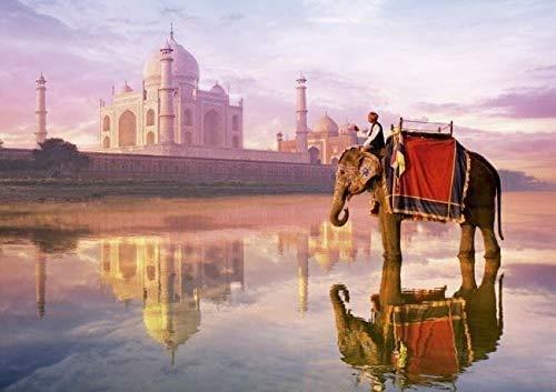 Rompecabezas de 500 piezas, elefante en el Taj Mahal, rompecabezas para adultos 500 piezas, rompecabezas para niños, decoración del hogar para adultos
