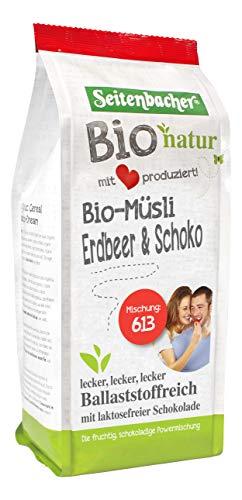 Seitenbacher Bio Erdbeer Schoko Dinkel Müsli, 2er Pack (2 x 454 g)
