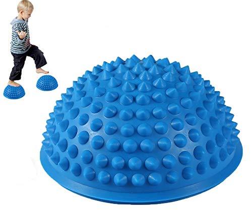 MT-Sport 半球 バランスボール 2個セット 大人から子供まで フット ヘルス ボール ミスター アルマジロ バランス トレーニング 【 空気入れおまけ付】 (Blue)