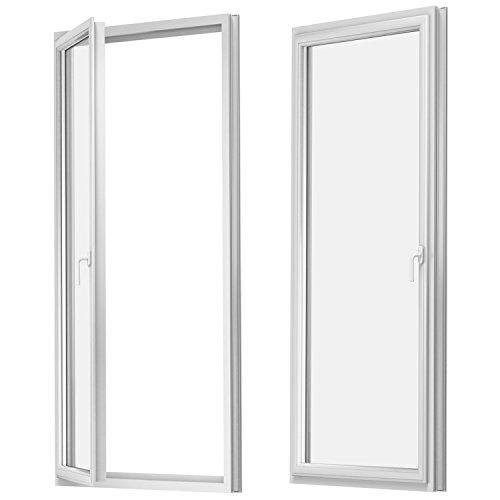 Balkontür - Kunststoff - Fenster - Tür - weiß - Dreh Kipp - BxH: 90 x 190 cm / 900 x 1900 mm - DIN links