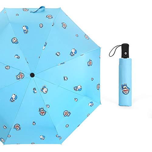 Paraguas Creativo Paraguas automático Lindo Jingle Cat Paraguas de Dibujos Animados Paraguas de plástico Negro Paraguas Plegable Paraguas Paraguas de Sol Paraguas publicitario Paraguas
