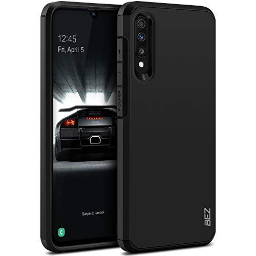 BEZ Coque Samsung A70, Housse Etui pour Samsung Galaxy A70 Antichoc Survivor Shockproof Double Protection Double Ultra Resistante, Noir