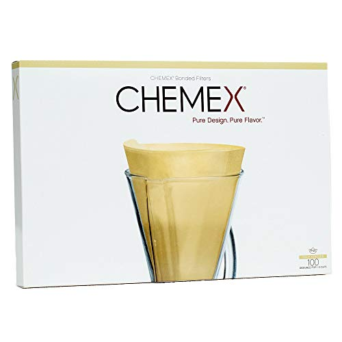 Chemex FP-2N | Natural Half Moon Filters | Box of 100 Filters |