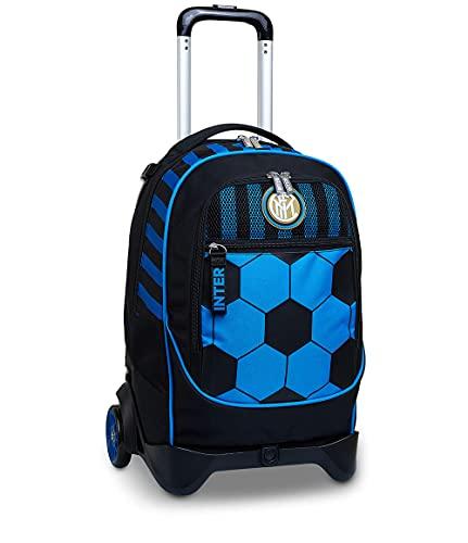 Trolley Jack mit 2 Rädern, Schwarz, Hellblau, Schule & Freizeit, mit Gadget - Fußball