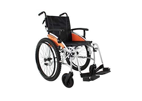 Excel G-Explorer All Terrain, Lightweight, Folding, Manual Self Propelled Aluminium Wheelchair, Quick Release Wheels, 20 inch Seat.