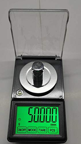 DC電源使用可能、日本語取説付精密天秤0.001gで50gスケール超精密はかりデジタル秤最小単位0.001gが計れるタッチパネ電子てんびんデジタルはかりデジタル天秤電子天秤デジタルはかり