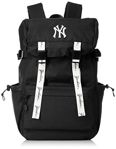 [メジャーリーグベースボール] リュック フラップリュック かぶせリュック ヤンキース スウェット 通学 旅行 大容量 YK-MBBK137 ブラック One Size