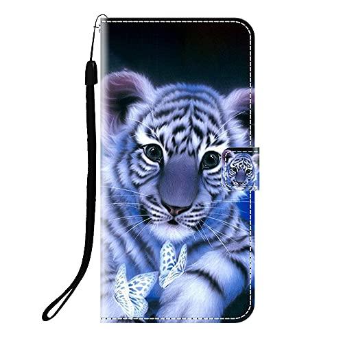 Sunrive Kompatibel mit Meizu 15 Plus Hülle,Magnetisch Schaltfläche Ledertasche Schutzhülle Etui Leder Hülle Handyhülle Tasche Schalen Lederhülle MEHRWEG(Q Tiger)