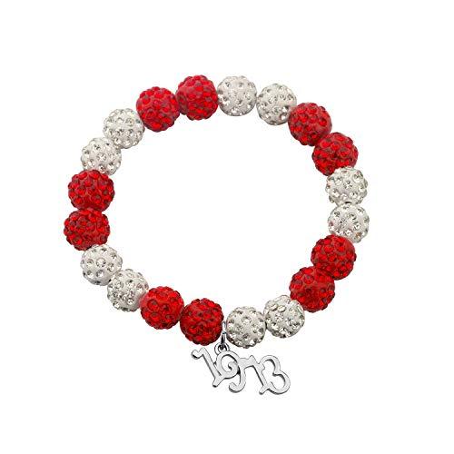 CENWA 1913 Sorority Jewelry Delta Gift DST Jewelry Greek Sorority Gift(1913 red beads -Br)