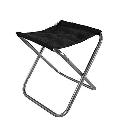 Sue-Supply Ultraleicht Alu Hocker klappbar Sitzhocker Klappstuhl Faltbar für BBQ, Camping, Angeln, Reisen, Wandern, Garten, Strand Terrasse (Silber)