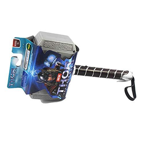 Wan&ya Thor Hammer Avengers Cosplay Arma de Acoplamiento con luz LED y truenos, Juguetes eléctricos creativos para Niños Children Navidad Regalo de cumpleaños