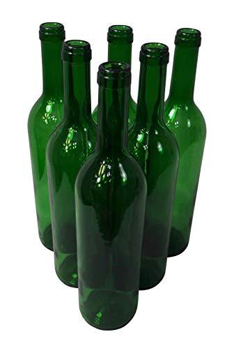 Destillatio Lot de 6 Bouteilles en Verre vides pour vin Rouge - 75 cl