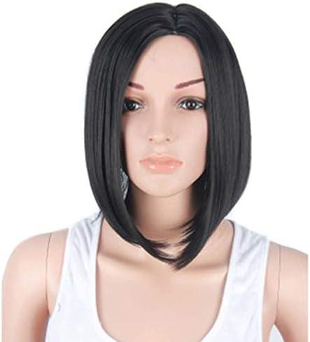 Bob korte rechte pruik natuurlijke zwarte pruik voor zwarte vrouwen 35 cm zonder kant voor dagelijkse feestjes black14inch