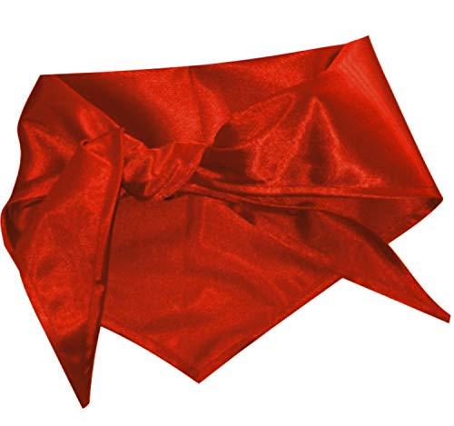 Krause & Sohn Halstuch Dreieckstuch rot Einheitsgröße Kostüm-Zubehör Fasching Karneval (rot)