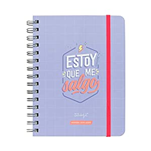 "41yvukbqV8L. SS300  - Mr. Wonderful Agenda Rotu 2019/2020 ""Estoy que Me Salgo"" - 160 Páginas, Morado, vista semanal"
