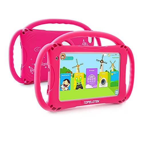 Kids Tablet 7 inch Toddler Tablet 16GB Google Play Android Tablet for Kids APP Preinstalled Learning Education Tablet WiFi Camera Tablet with Case Included,Netflix YouTube Tablet for Toddlers