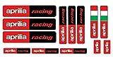 13 Adhesivos Aprilia Racing Vario Formatos Patrocinador Moto Rojo y Negro