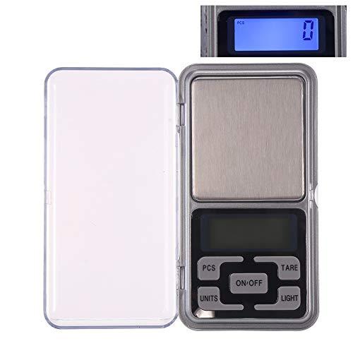 OurLeeme Balance électronique, Balance numérique de poche 0.01-200g Mini balance numérique portable avec rétroéclairage LED pour aliments de cuisine, bijoux, café
