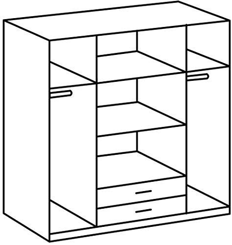 Wimex 64453 Kleiderschrank/ Drehtürenschrank Duo, 4 Türen, 2 Schubladen, 2 Spiegel, (B/H/T) 180 x 198 x 58 cm, San Remo-Eiche