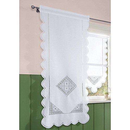 Seitenschal Wolfgangsee Hossner 130x60 cm H/B | Farbe: weiß | Store Vorhang Fenstergardine