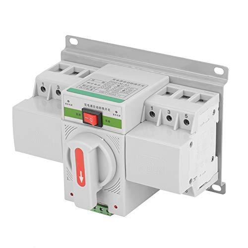 YOPOTIKA Interruptor de Cambio de Potencia Dual 63A 3P 220V Interruptor de Transferencia Automática Micro Disyuntor para Edificios de Oficinas