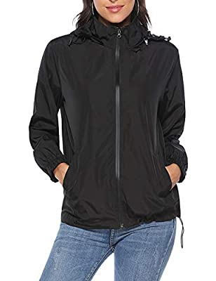 iClosam Women Lightweight UV Protect Windbreaker Jacket Active Outdoor Packable Thin Coat